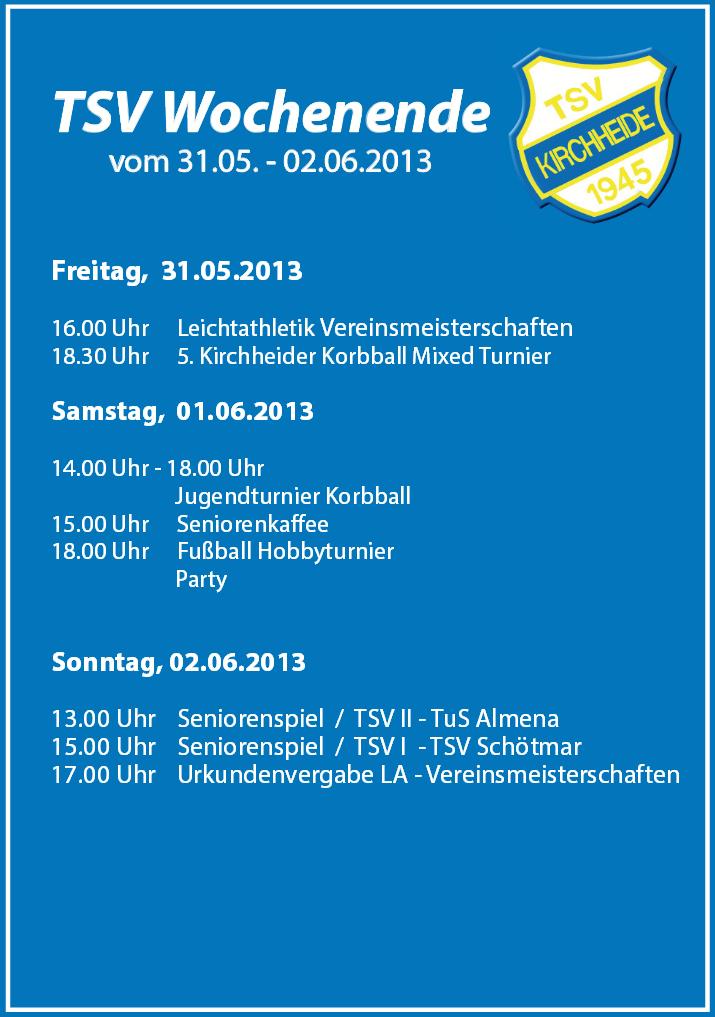 TSV Wochenende